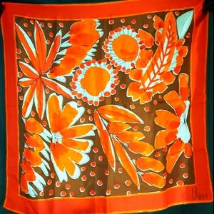 1970's psychedelic floral Vera Neumann scarf